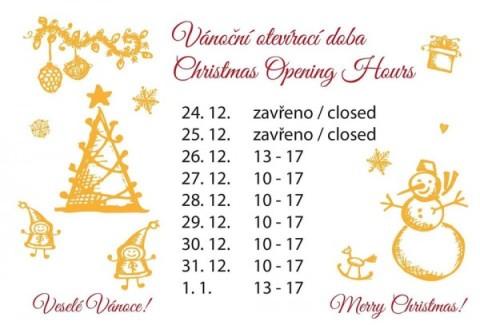 Vánoce - Otevírací doba